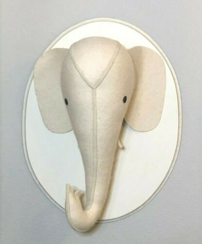Restoration Hardware Baby & Child Wool Felt Elephant Head Wall Plaque