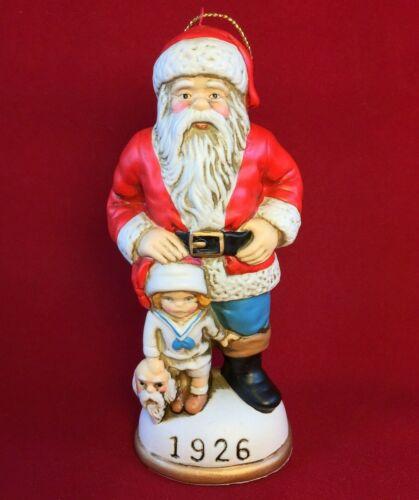 1926 Santa & His Little Impersonator Memories of Santa Coll. Ornament Christmas