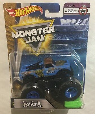 HOT WHEELS MONSTER JAM BIG KAHUNA OFF ROAD TRUCK 11/19 TOUR FAVORITES FLX06