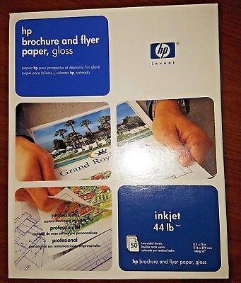 50 Glossy Brochure Sheets (HP Brochure/Flyer Paper 8.5 X 11