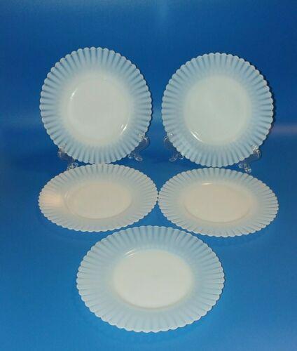 "Macbeth Evans Monax Petalware Cream Soup Bread Plates Rings Base 6.50""  Set of 5"