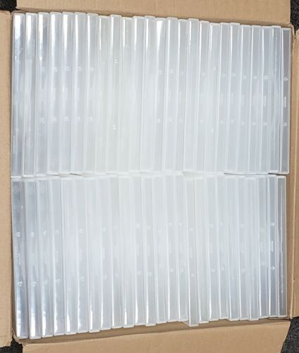 100  Empty 14mm Clear DVD Cases