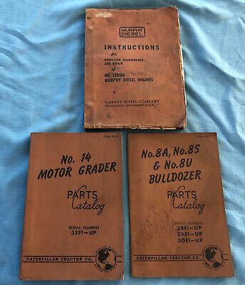 Murphy Diesel Engines Caterpillar 24 Grader Bulldozer 8a 8s 8u Parts Catalog 3