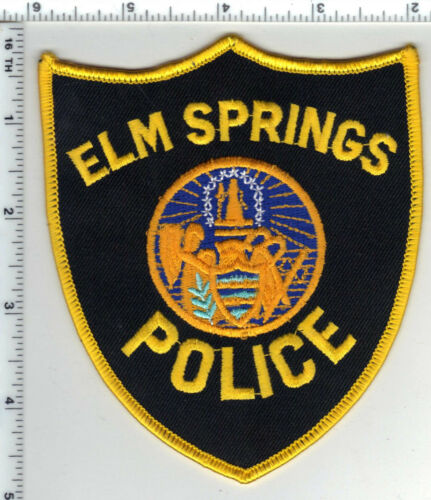 Elm Springs Police (Arkansas) Shoulder Patch - new from the 1980