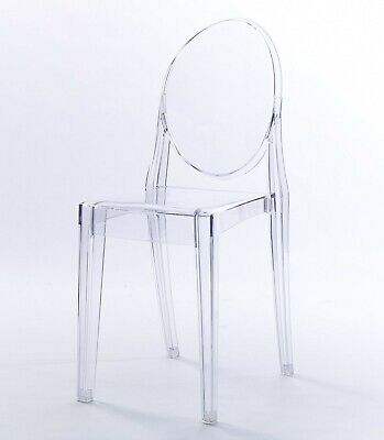 Clear Ghost Victoria Dining & Vanity Dressing Room Chair Transparent Modern
