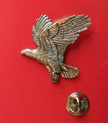 English Pewter EAGLE, Bird Pin Badge Tie Pin / Lapel Badge (XTSBPB14)