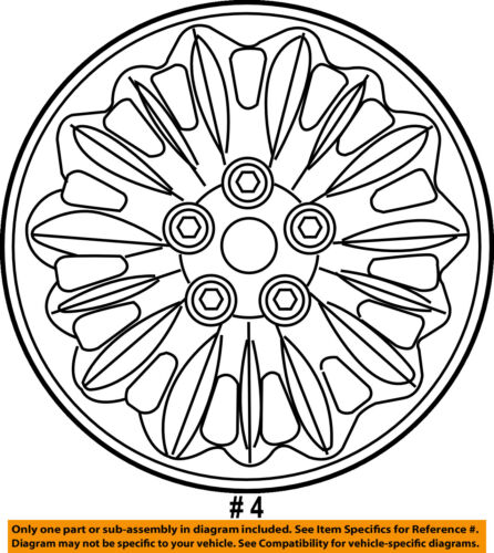 Chrysler Oem Wheel Alloy Aluminum 4721235aa