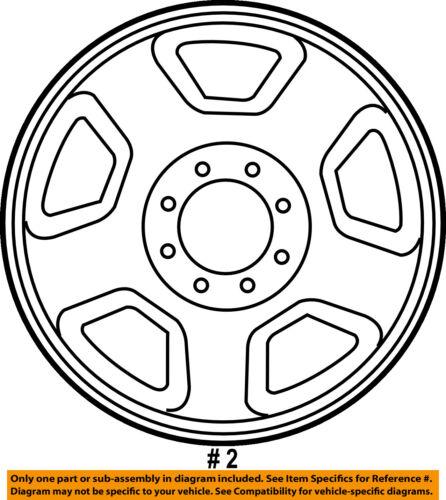 Ford Oem 05 07 F 250 Super Duty Steel Wheel 6c3z1007a