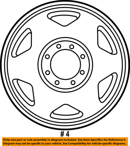Ford Oem 99 04 F 350 Super Duty Wheel Alloy Aluminum 4c3z1007ka