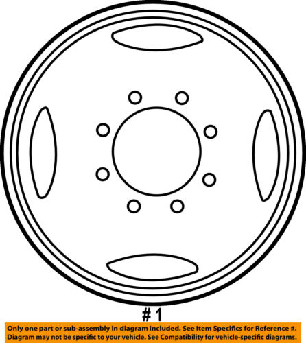 Ford Oem 99 04 F 350 Super Duty Wheel 1c3z1015da