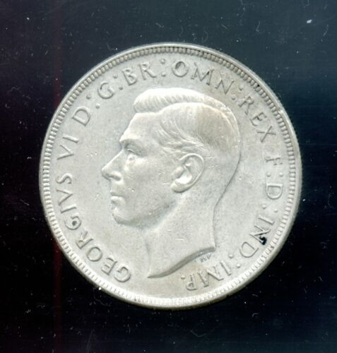 AUSTRALIA ~ 1937 ~ 1 CROWN ~ SILVER ~ XF