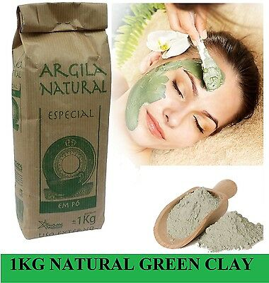 Organic French Green Clay  Powder Face Mask! 1Kg 2.2LB THE CHEAPEST ON EBAY!! for sale  Shipping to Ireland