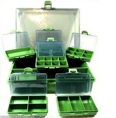 Fishing Tackle Bit Box System for hooks swivels rigs shot etc 6 + 1