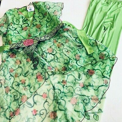 DC Super Hero Girls Poison Ivy Halloween Costume Shirt Belt Leggings Size Medium