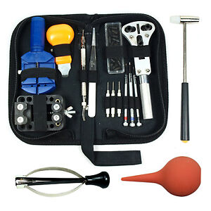 Watch-Repair-Tool-Kit-Case-Opener-Link-Remover-Spring-Bar-Tool-w-Carrying-Case