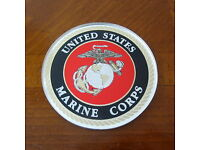 U.S MARINE CORPS EGA USMC AUTOMOBILE GRILL MEDALLION AUTO HOME EMBLEM BADGE