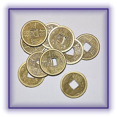 10 Stück Chinesische Glücksmünzen Glücksbringer Münzen Feng Shui