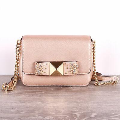 🌸NWT Michael Kors Tina xs Clutch Crossbody Ballet Bow Bag Purse Leather