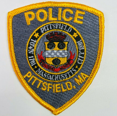 """HAT SIZE Pittsfield Police Berkshire County Massachusetts MA Patch 3.25"""" A2"""