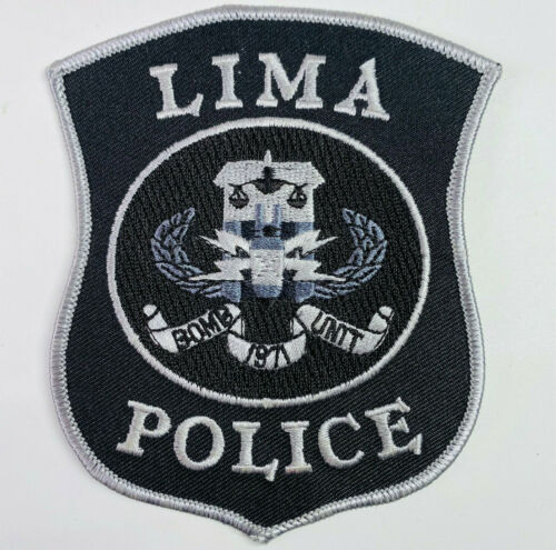 Lima Police Bomb Unit Ohio OH Subdued Patch (A1)