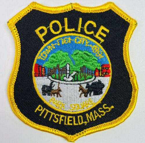 """HAT SIZE Pittsfield Police Berkshire County Massachusetts MA Patch 3.25"""" A1"""