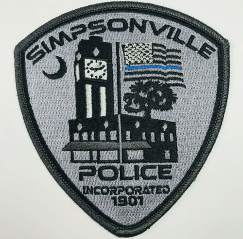 Simpsonville Police South Carolina Subdued Patch