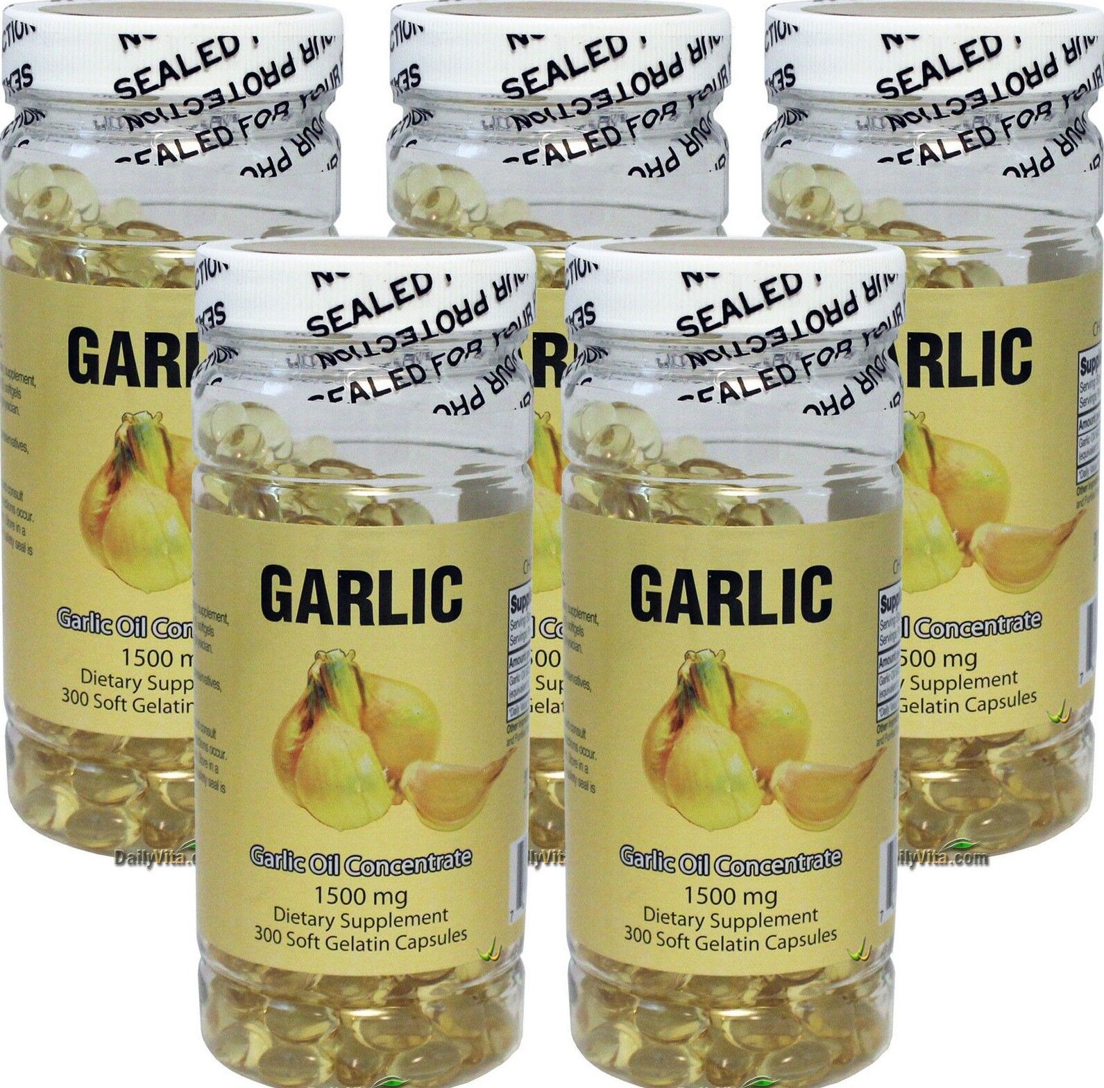 5X NuHealth Garlic Oil Concentrate, 1500mg 600 Softgels, FRESH, Made In USA