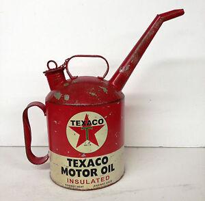 Vintage Replica Texaco Motor Oil Gasoline Can Spout Gas