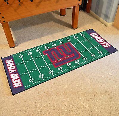 Nfl Football Mat - New York Giants NFL Football Field Runner Man Cave Area Rug Mat 29.5