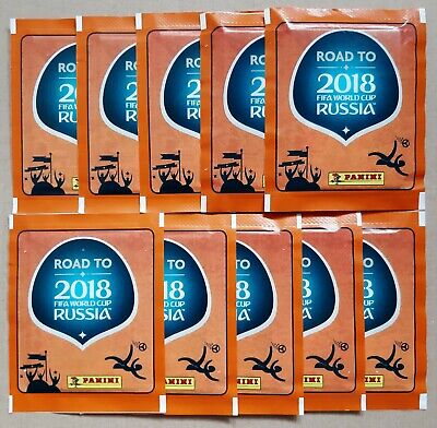 10 SOBRES NUEVOS DE CROMOS ROAD TO 2.018 RUSSIA DE PANINI SIN...