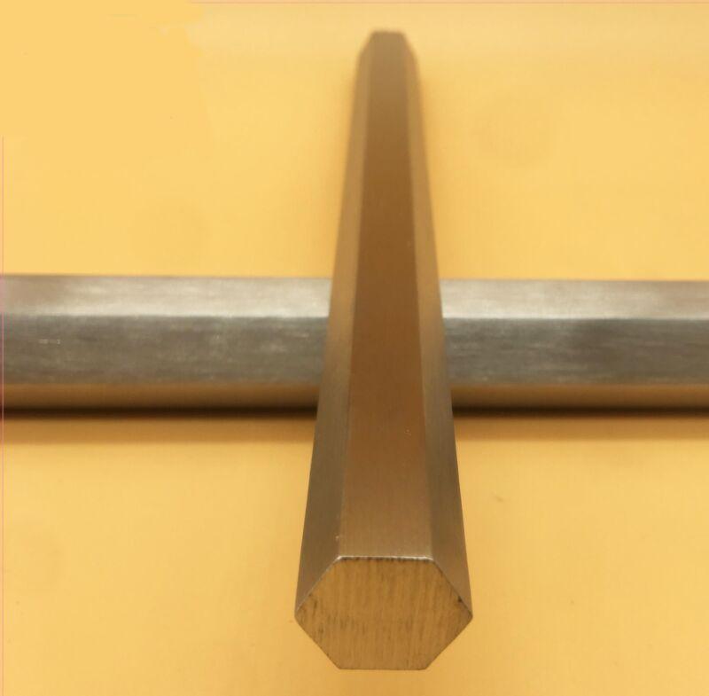 "US Stock 0.47244""(12mm) 12"" Long 304 Stainless Steel Hexagonal Hex Bar Rod Shaft"
