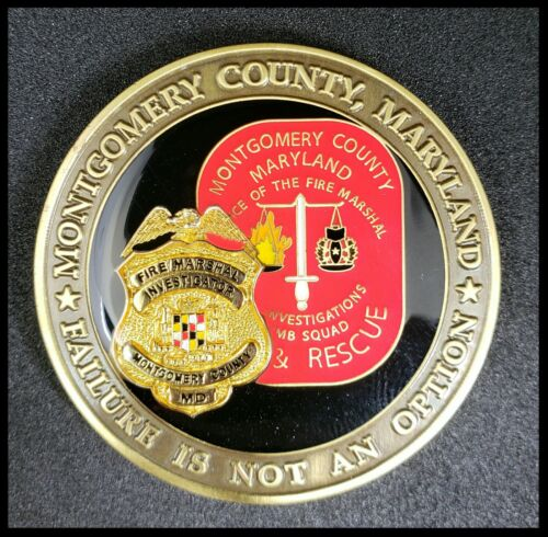 MONTGOMERY COUNTY MARYLAND POLICE BADGE PATCH COIN BOMB SQUAD FIRE RESCUE MD EOD