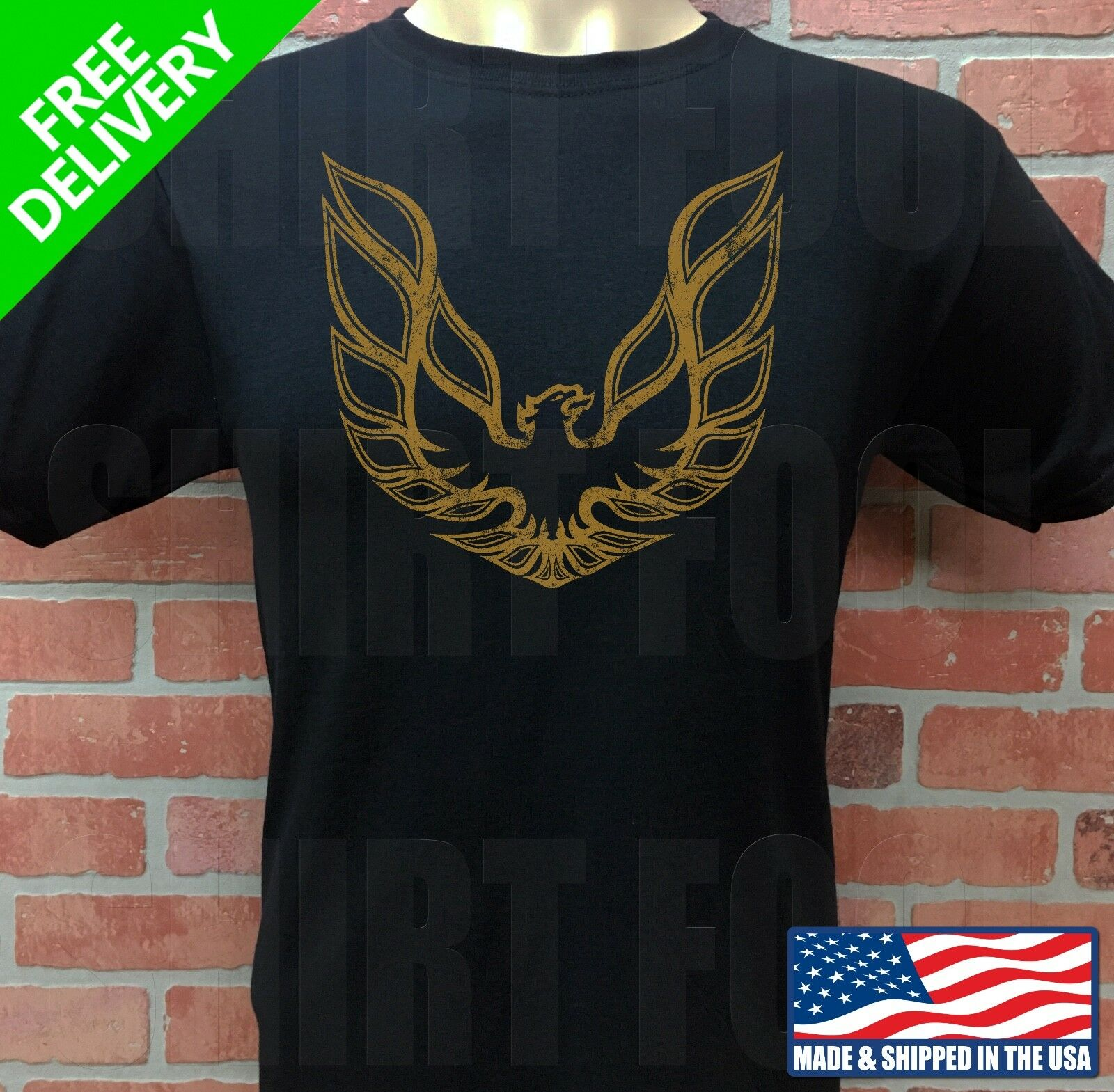 BURT REYNOLDS SMOKEY AND THE BANDIT FIREBIRD LOGO  ***RETRO FADED*** T-SHIRT