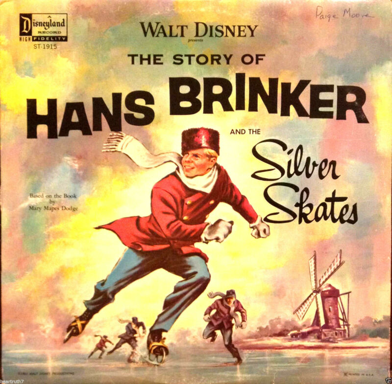 "WALT DISNEY The Story of Hans Brinker and The Silver Skates 12""LP 1ST PRESS Rare"