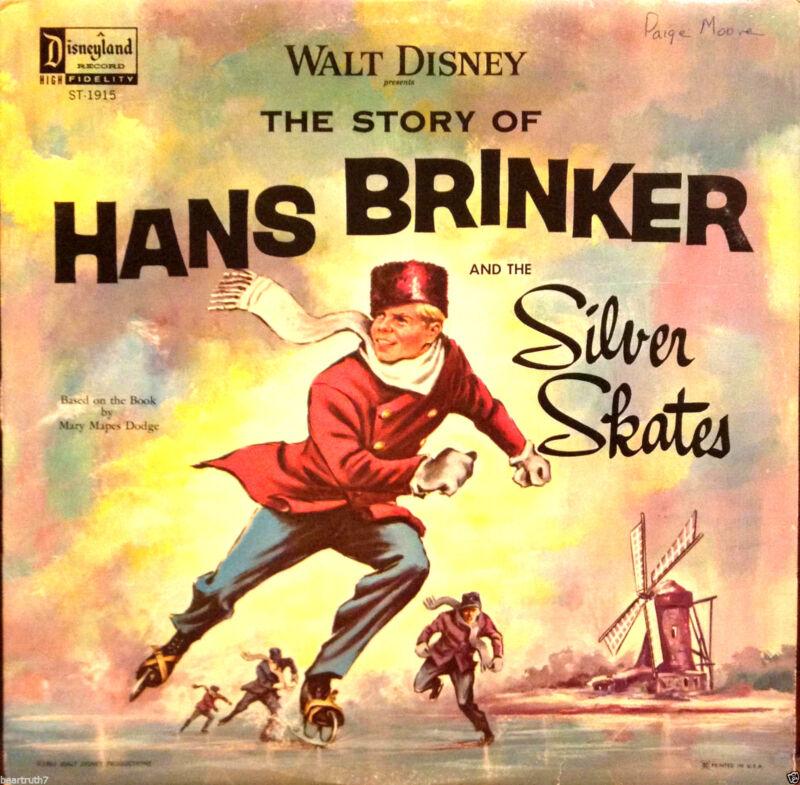 "Vintage Walt Disney The Story of Hans Brinker and The Silver Skates 12"" LP Rare"