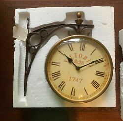 Victoria Station 1747 Railway Wall Clock | Vintage Antique |Double Sided Analog