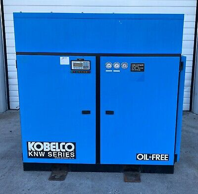 Kobelco Knw Series Ao-al 40 Hp Two-stage Oil Free Rotary Screw Air Compressor