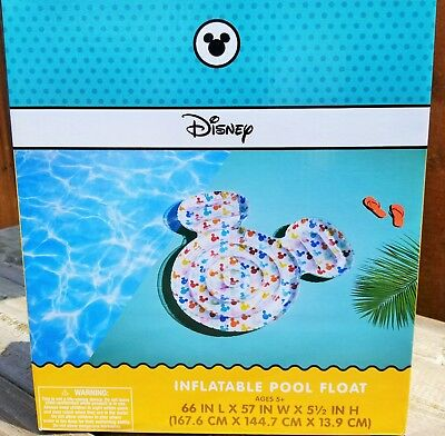 Mickey Mouse Inflatable Pool (Disney Mickey Mouse Shaped Inflatable Swimming Pool Float / 3 Piece Drink)