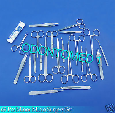 69 Pc Minor Micro Surgery Surgical Veterinary Dental Instrumentsodmds-854