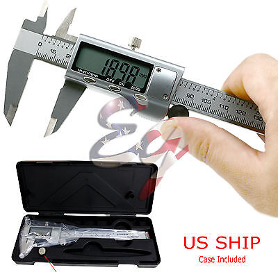 6 150mm Stainless Steel Electronic Digital Vernier Caliper Micrometer Guage Lcd