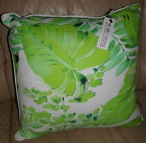 Green and White Cushion (46cm x 46cm, Mrs Darcy Lifestyle) Bassendean Bassendean Area Preview