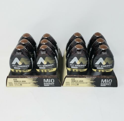 Mio Energy Iced Vanilla Java Coffee Concentrate 1.62 oz. CHOICE 3, 6 or 12 Pack