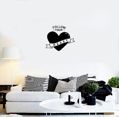 Vinyl Decal Wall Sticker Heart Words Quote Love Decor for Be