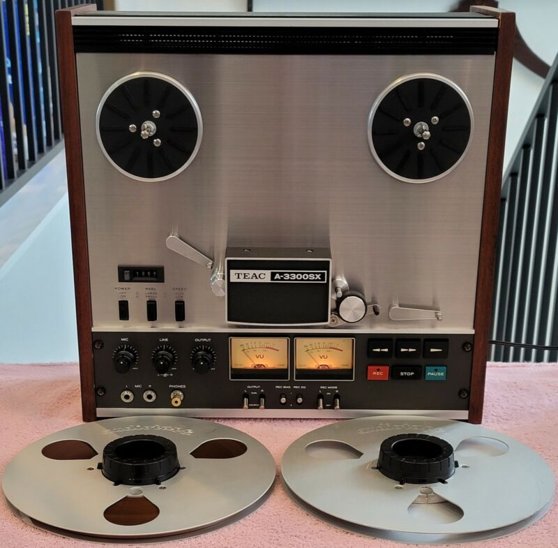 VTG TEAC A-3300SX Reel To Reel Stereo Tape Deck Works Clean Beautiful