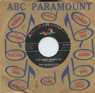 HEAR- Rare Northern Soul 45- The Impressions- You Must Believe Me- ABC-Paramount