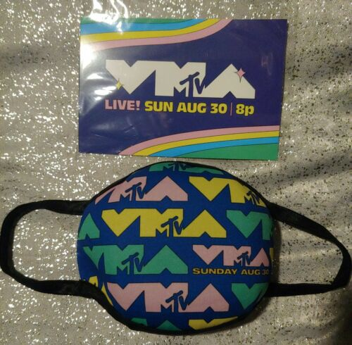 MTV VMAs 2020 Promo Adult Face Mask 80s RETRO NEW IN SEALED PACKAGING