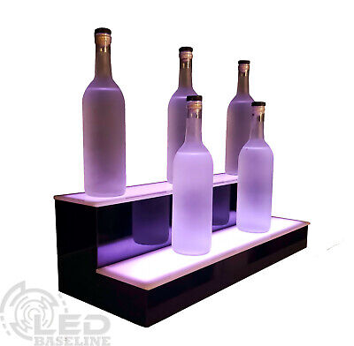 28 Led Bar Shelf Two Step Liquor Bottle Shelves Bottle Display Shelving Rack