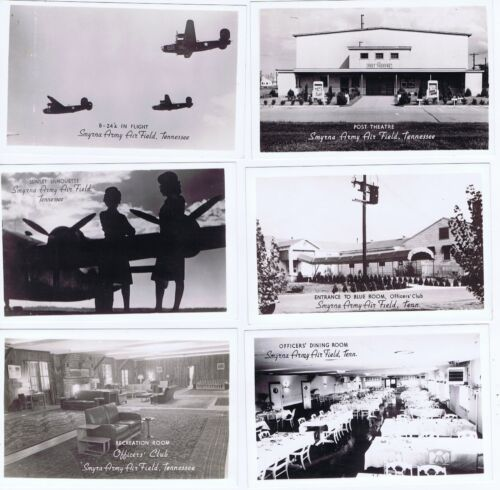 Smyrna Army Air Field Tennessee WWII RPPC 23 postcards unposted
