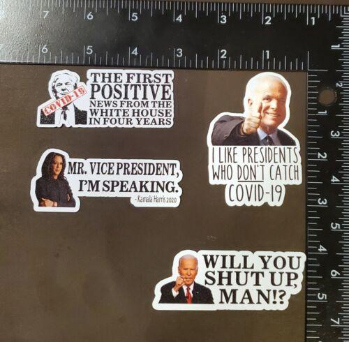 Funny Political Favorites Magnet 4-PACK - Memes Biden Harris Trump Pence Debate