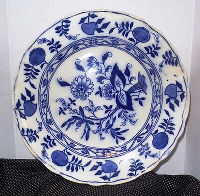 "Vintage Antique Meissen Blue Onion Dinner Plate 9 3/4"" England"